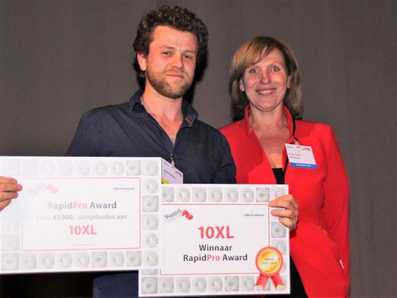 10XL, winnaar van de RapidPro Award 2018