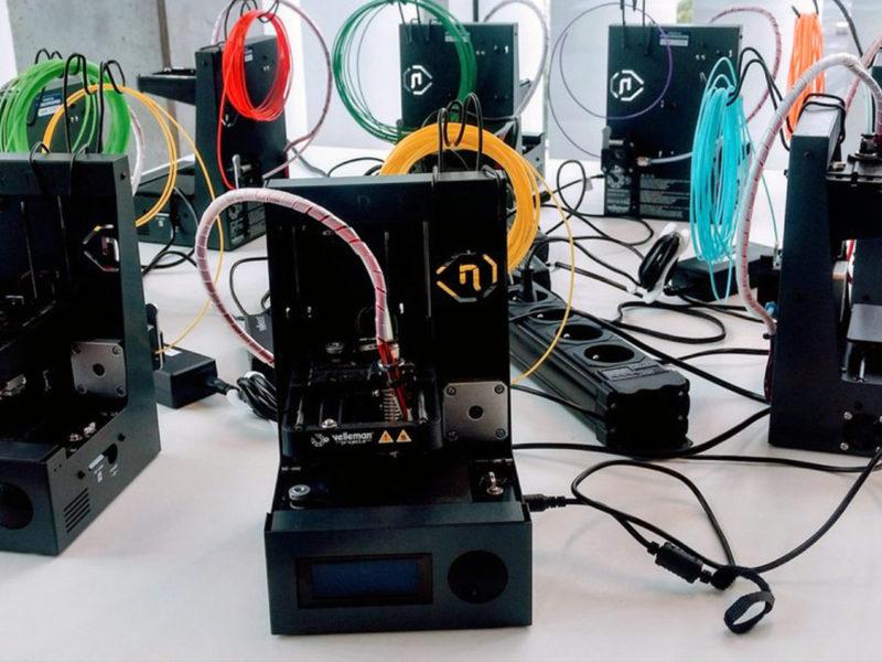 Velleman Vertex Nano 3D-printers op de Arteveldehogeschool