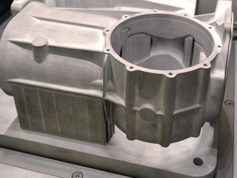 3D-geprint stuk in metaal