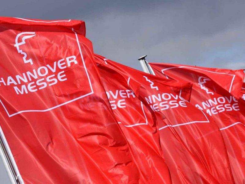 Hannover Messe vlaggen