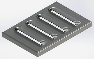 metalen ventilatieopening